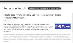 Screenshot of Retraction Watch post: http://bit.ly/1M0tJO8