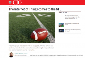Screenshot CIO Story on IoT in NFL by Thor Olavsrud http://bit.ly/1Zio3Zx